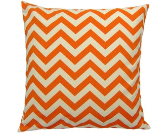 Pillowcase zigzag CHEVRON 50 x 50 cm mandarin-nature