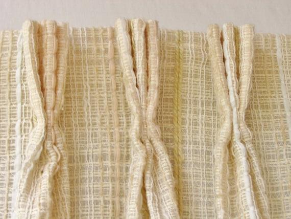 Mid Century Curtains Pair Drapery Panels Danish Modern
