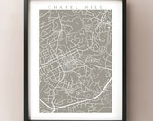 Chapel Hill map print - NC Poster