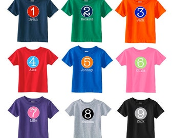 Birthday Number Shirt | Personalized Birthday Number T-Shirt | Customizable with ANY number! | Available in 9 color combinations | Birthday
