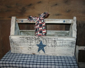 Primitive Americana Wood tool box