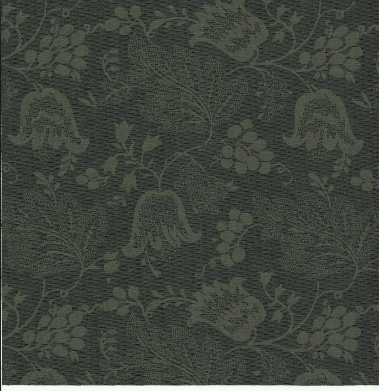 dutch chintz licorice green black ton sur ton fq. Black Bedroom Furniture Sets. Home Design Ideas