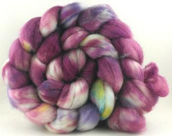 Hand Painted Superwash Merino (Top) for Spinning - 120 grams - Cape Daisy