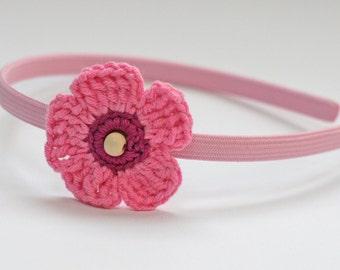 Child's Crochet Flower Hairband