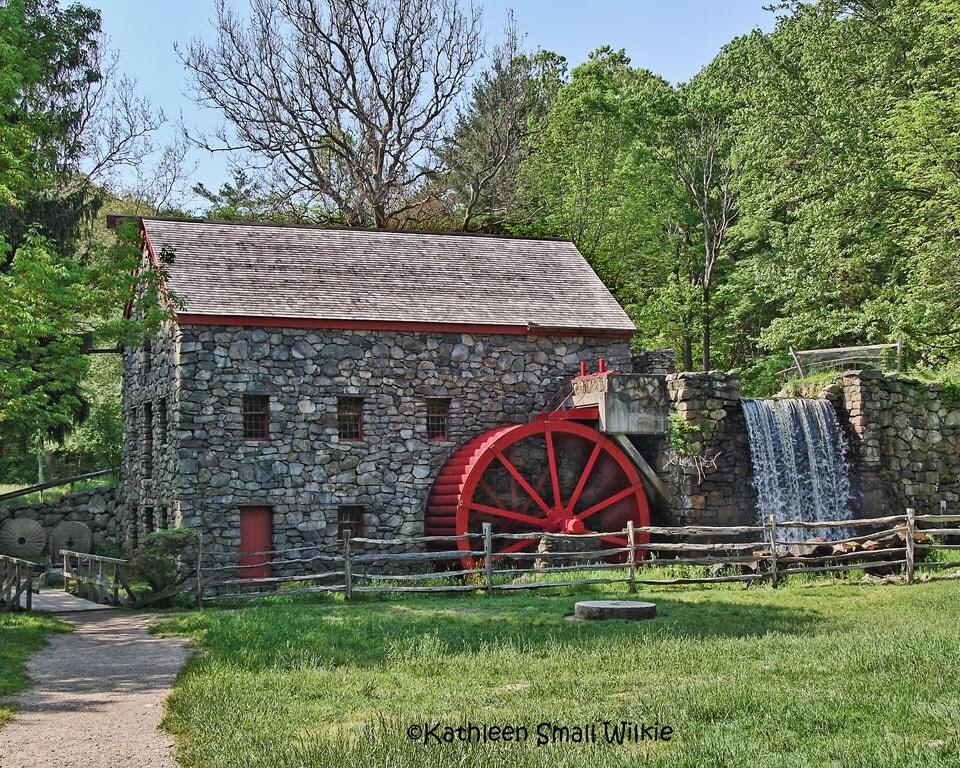 Marble Water Wheels : Wayside inn grist millstone millsudbury maworking
