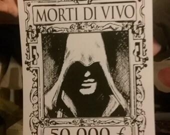 Assassins Wanted poster