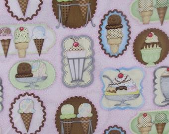 Fat Quarter,  Whats the Scoop Ice Cream Fabric