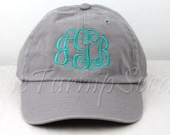 Ladies' Monogram Baseball Cap - Custom Color Hat and Embroidery.