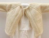 Cardigan bébé Explications tricot en Anglais PDF Téléchargement instantané / 3 Tailles : 6 / 12 et 24 mois