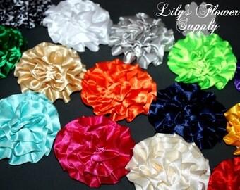 Satin Petti Puff - Satin Flower - Petti Puff Flower -Roled Satin Flower - Fabric Flower - Rolled Rosettes - Satin Rosette - You  Pick Colors