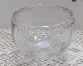"small  Heisy bowl, 4 1/2"", with greek key edging"