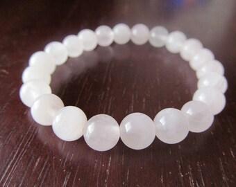 Rose Quartz Bracelet, Gemstone Bracelet,Yoga Bracelet, Meditation Bracelet, Womens Beaded Bracelet, Yoga Jewelry, Spiritual Jewelry