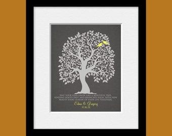 WEDDING GIFT, Love Birds Tree Wedding Gift, Bridal Shower Gift, Wedding Tree Wall Print, Personalized Wedding Print, Wedding Shower Gift