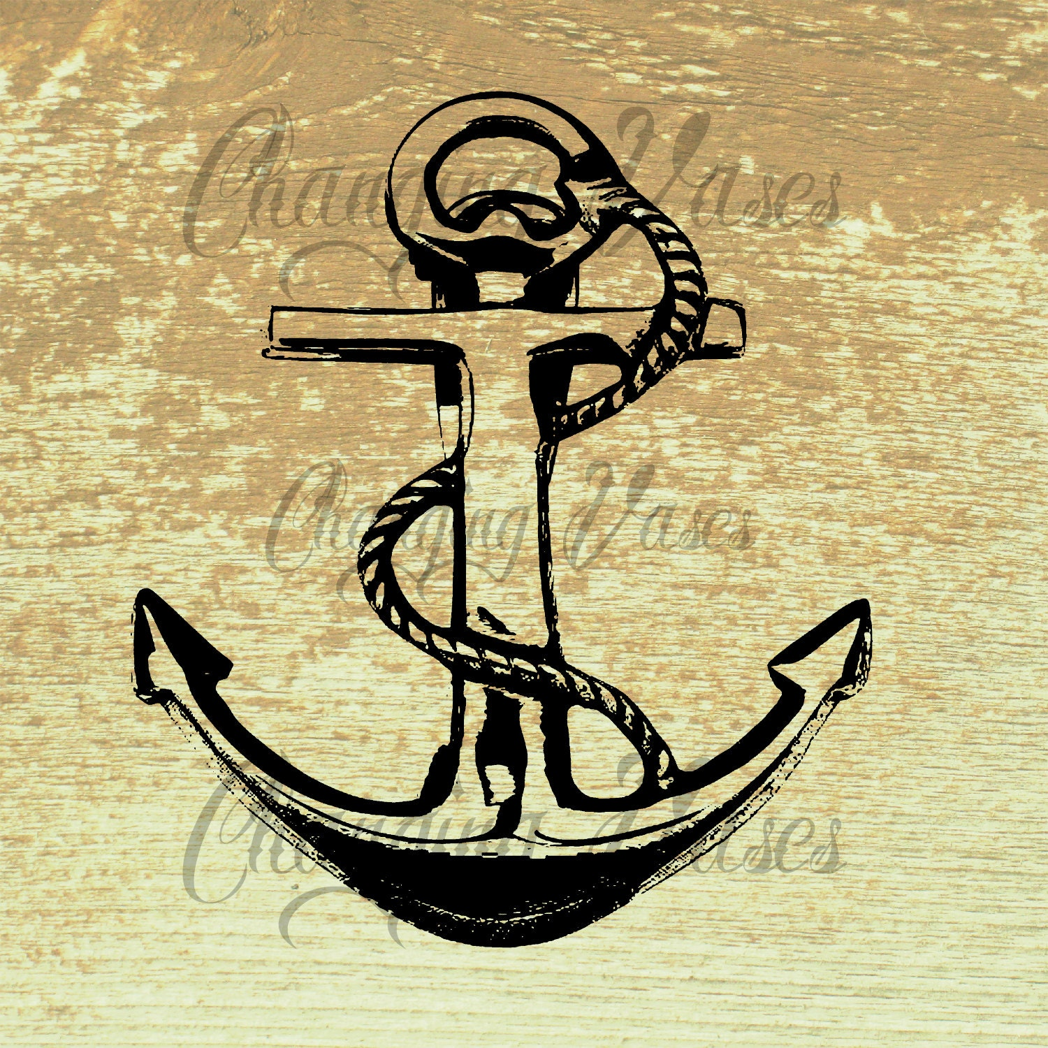 Vintage Boat Anchor Clipart Clip Art Nautical by ChangingVases Vintage Anchor Drawing