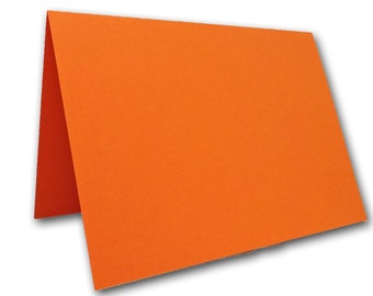 Blank Orange Place Cards 25 pack