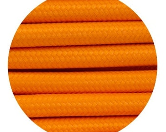 Fabric Textile cable wire for Lighting Round 2x0.75 in orange EGST