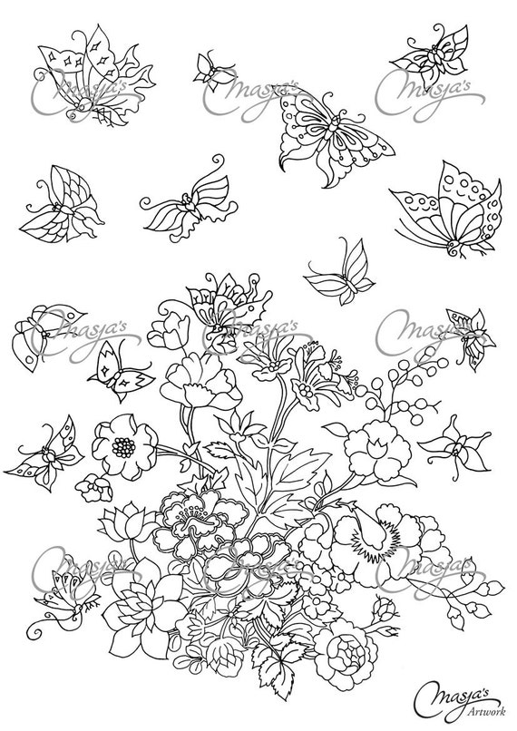 whimsical flower coloring pages - photo#18