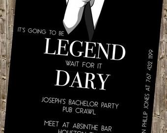 Bachelor Party Invite - legendary HIMYM