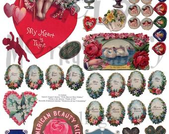 Valentine Stuff Number 1 Digital Download Collage Sheet