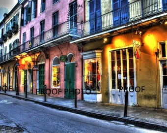 Shopping in color. French quarters.