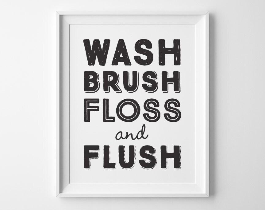Exhilarating image within wash brush floss flush free printable