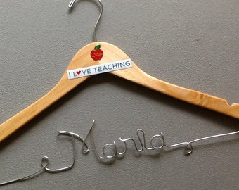 Personalized Teachers Hanger, Great Gift - They will love it