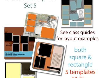 Digital Scrapbooking Template Set 5