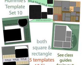 Digital Scrapbooking Template Set 10