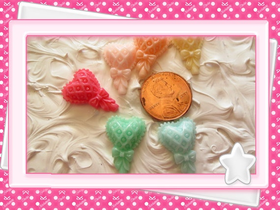 0: )- CABOCHON -( Heart Strawberry Candy Kandie Lolipop Balloon