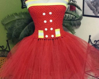 Fire girl tutu dress 35.00