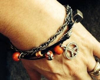Funky Hippie Peace Bracelet