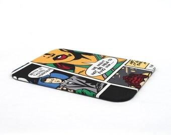 mouse pad, comic, fabrics, handmade