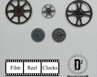 Film Reel Wall Clocks