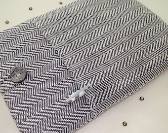 13 inch Laptop Sleeve - Macbook Air or Pro, Custom Size for Your 13'' Laptop - Laptop Cover, Padded Sleeve Case,Herringbone
