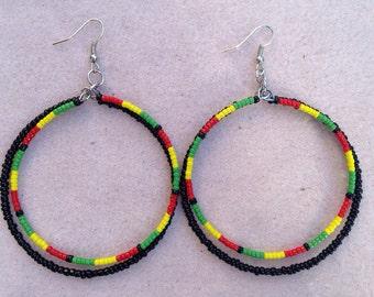 Double Rastafarian Hoops