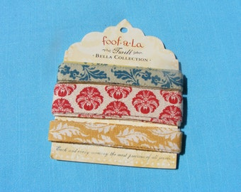Floral Cotton Twill Ribbon (3 yards)