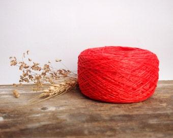 Linen Yarn, High Quality, Coral Linen Yarn, #075  Linen Yarn For Crochet, Knitting, 100 g/ 3.5 oz