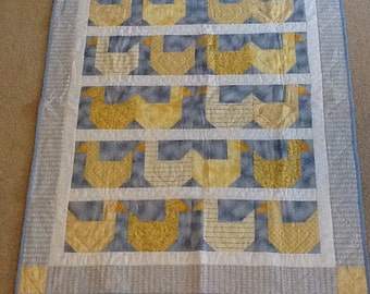 Rub A Ducky. Cute kids quilt for the cot or wall