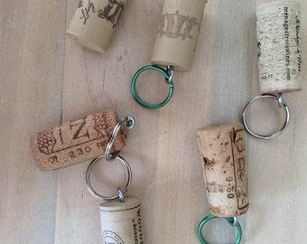 Wine Cork Key Rings