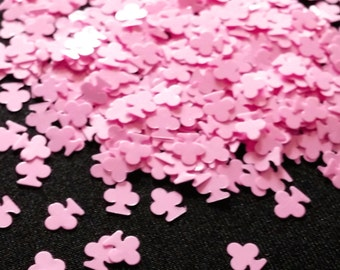 solvent-resistant glitter shapes-pastel pink clovers
