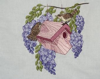 Hanging Birdhouse wall hanging