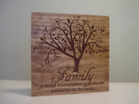 Mothers Day Gift Idea Personalized Sign Carved Wooden Last