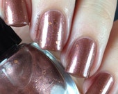 penny for your thoughts – brown shimmer and copper glitter nail polish