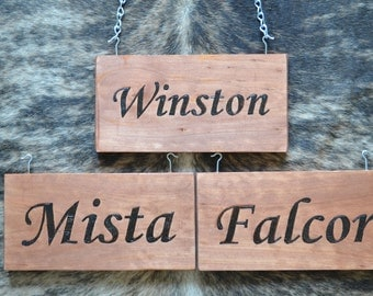 Custom Horse Stall Name Plate - Wood Burning