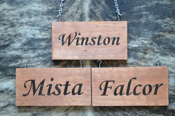 Custom Horse Stall Name Plate Wood Burning