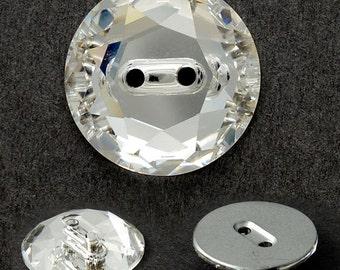 12mm Crystal Swarovski 3014 Sew On Button by 2 pcs, SW-3014