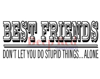 Best Friends Headline cling stamp by Deep Red
