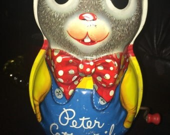 Vintage, 50's, Metal, Peter Cottontail Wind-up Toy by Mattel