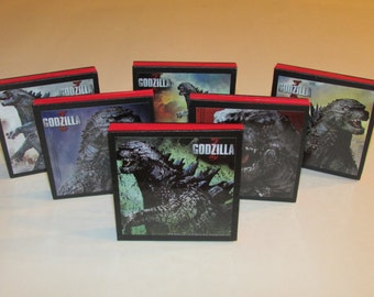 Godzilla Party Favors - Godzilla Note Pads Set of 6 - Godzilla Birthday Party Favors
