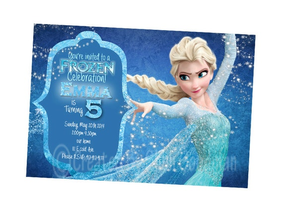 Effortless image intended for printable frozen invitations